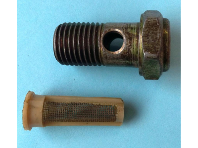 Болт пустотелый М14 с фильтр-сеткой (штуцер топливный) H HOWO (ХОВО) 90003962612 фото 1 Барнаул