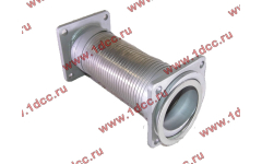 Гофра-труба выхлопная с квадратными фланцами FN для самосвалов фото Барнаул